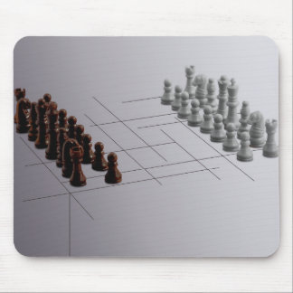 Designer chess mouse pad