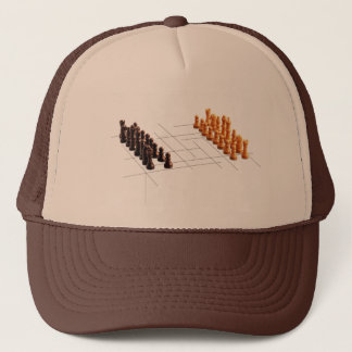 Designer chess trucker hat