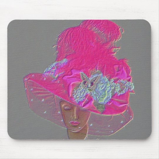 Designer Chic Hot Pink Victorian Lady Mouse Mat