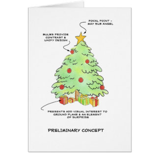 Designer  Christmas Tree Card