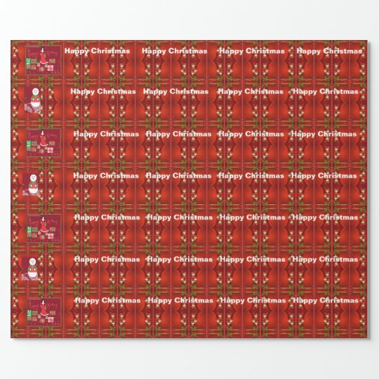 Designer Christmas wrapping paper