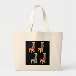 Designer dining chair jumbo tote bag