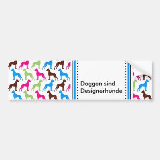Designer dogs bumper sticker