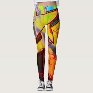 Designer Fashion Legging Yoga Pants/Graffiti Print