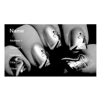 Designer Fingernails Pack Of Standard Business Cards