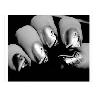 Designer Fingernails Postcard