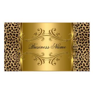 DEsigner Gold Black Leopard Animal Pack Of Standard Business Cards