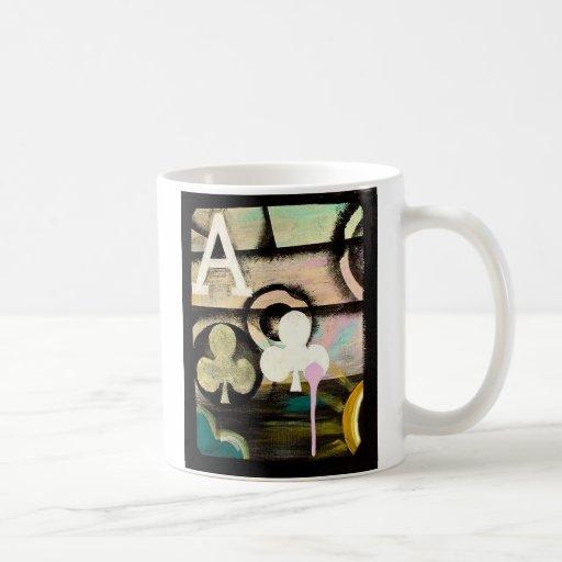 Designer GRAFFITI Coffee Poker Mug Ace of Clubs
