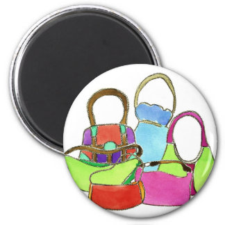 Designer Handbags 6 Cm Round Magnet