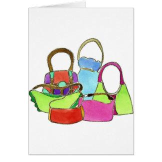 Designer Handbags Greeting Card