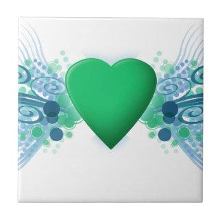 Designer Heart Small Square Tile