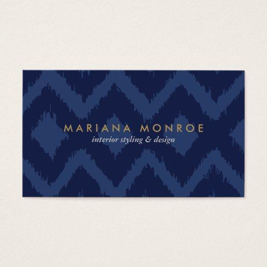 DESIGNER IKAT PATTERN in BLUE Business Card