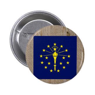 Designer Indiana Flag Box 6 Cm Round Badge