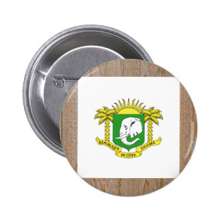 Designer Ivory Coast Flag Box 6 Cm Round Badge