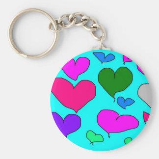 Designer J fan club item Basic Round Button Key Ring