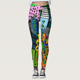Designer leggings alien city Cindy Ginter