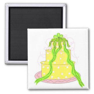 Designer Lemon Cake Fridge Magnet