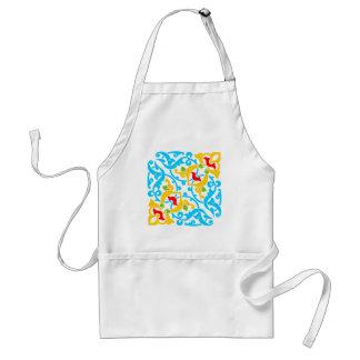 Designer Motif : Textile Print Adult Apron