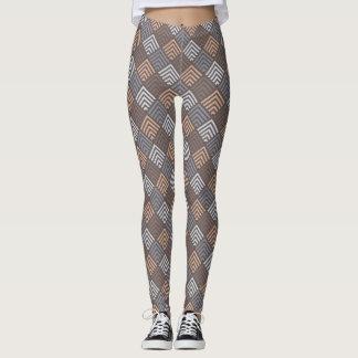 Designer Multi- Beige Diamond Leggings