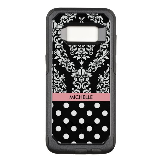 Designer Name Drop Pattern OtterBox Commuter Samsung Galaxy