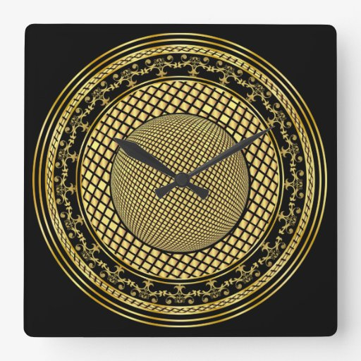 Designer One of a kind View notes please Square Wall Clocks