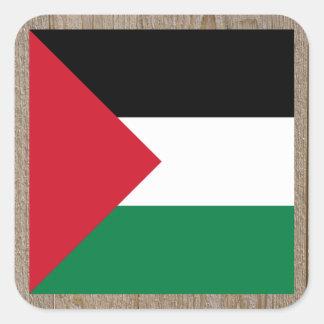Designer Palestine Flag Box Square Sticker