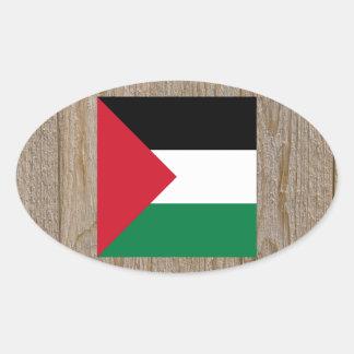 Designer Palestine Flag Box Oval Sticker