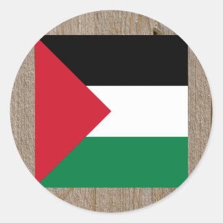 Designer Palestine Flag Box Round Sticker