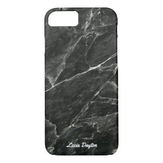 Designer Personalized Black Marble iPhone 8/7 Case