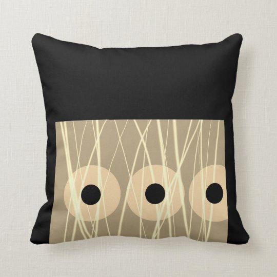 designer pillow artistic abstract black and sepia