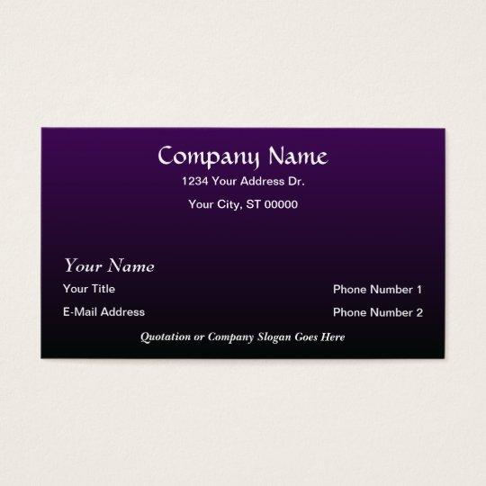 Designer Purple Black Fade Business Cards