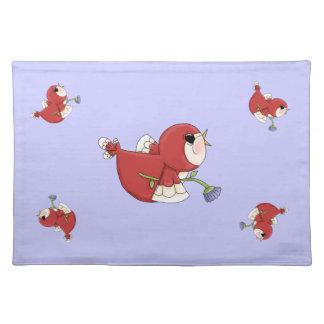 Designer Red Cartoon Cardinal Bird Placemats