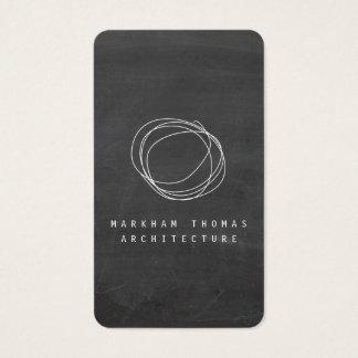 Designer Scribble Logo on Black Chalkboard