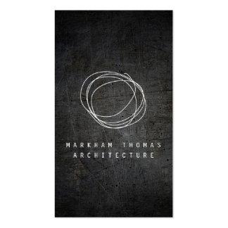 Designer Scribble Logo on Black Grunge Metal Pack Of Standard Business Cards