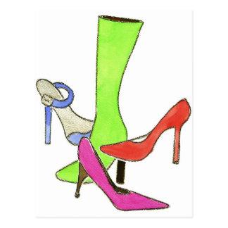 designer shoes FINAL Postcard