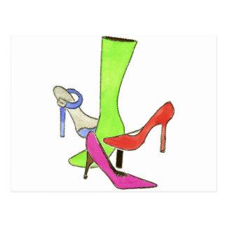 designer shoes FINAL Postcards