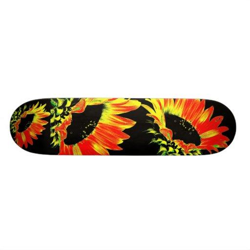 """Designer skateboard """"Sunflower power Black """""""