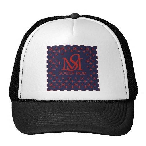 Designer Soccer Mom (blue/red) Hat