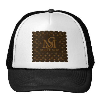 Designer Soccer Mom brown gold Hat