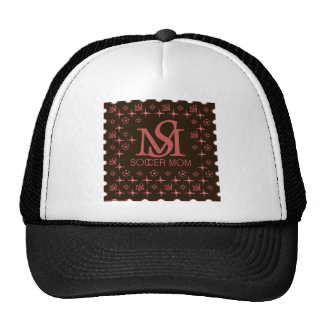 Designer Soccer Mom (brown/pink) Trucker Hats