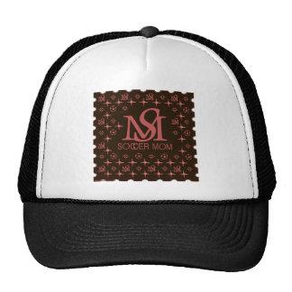 Designer Soccer Mom brown pink Trucker Hats