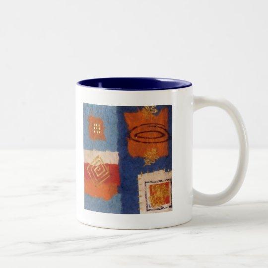 Designer Squares Birthday Two-Tone Coffee Mug