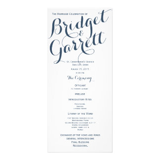 Designer Text Wedding Program 10 Cm X 23 Cm Rack Card