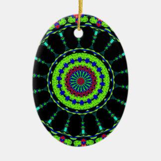 Designer tribal abstract art. Beautiful gift! Ceramic Oval Decoration