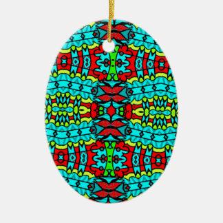 designer Tribal Art. Perfect gift! Ceramic Oval Decoration