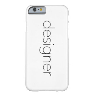 Designer Typography Barely There iPhone 6 Case