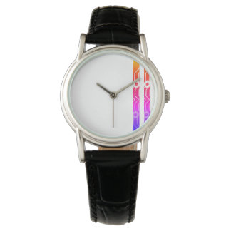 Designer watch abstract stripes design by Zayha