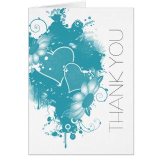 DESIGNER WEDDING THANK YOU NOTES GREETING CARD