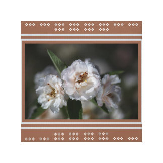 Designer White Crabapple Flowers by Bubbleblue Gallery Wrap Canvas