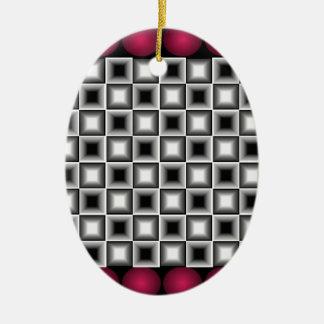 Designer Wildness Wine Red Black Grey Holiday Ornaments